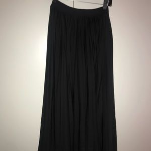 Black Ruffle Maxi Skirt